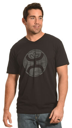 Hooey Men's Black V-Neck Logo 2.0 Sport T-Shirt , , hi-res