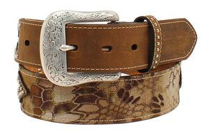 "Ariat 1 1/2"" Kryptec Camo Belt, Camouflage, hi-res"