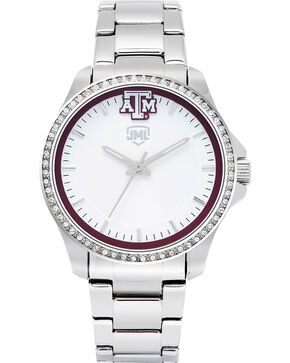 Jack Mason Women's Texas A&M Glitz Sport Watch , Silver, hi-res