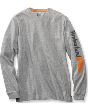Timberland PRO Men's Base Plate Wicking Logo Long Sleeve T-Shirt, Hthr Grey, hi-res