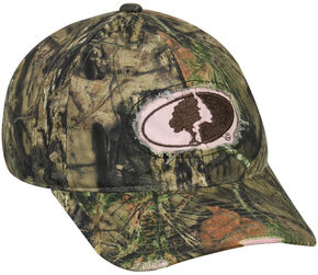 Mossy Oak Ladies Frayed Camo Cap, Camouflage, hi-res