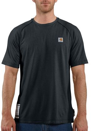 Carhartt Flame Resistant Force Short Sleeve Work T-Shirt - Big & Tall, Navy, hi-res