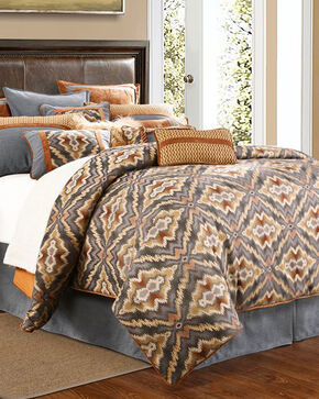 HiEnd Accents Lexington 4-Piece Comforter Set - King , Multi, hi-res