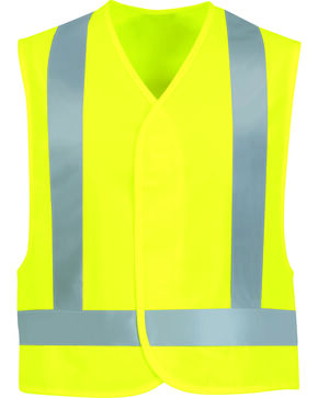 Red Kap Men's Class 2 Hi-Viz Safety Vest, Sunshine, hi-res