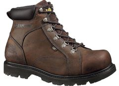 "Caterpillar 6"" Mortar Lace-Up Work Boots - Steel Toe, , hi-res"