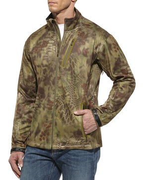 Ariat Men's Kryptek Olive Mandrake Softshell Jacket, Green, hi-res