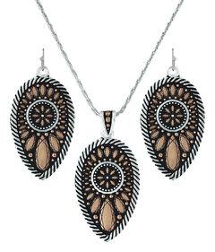 Montana Silversmiths Sunset Prairie Clover Jewelry Set  , , hi-res