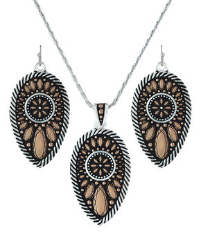 Montana Silversmiths Sunset Prairie Clover Jewelry Set  , Silver, hi-res