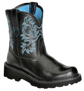 Ariat Fatbaby Cowboy Boots, Black, hi-res