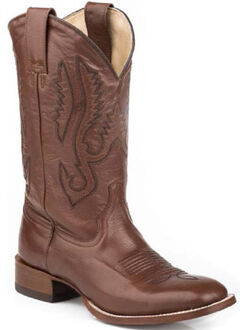 Stetson Classic Brown Cowboy Boots - Square Toe, , hi-res