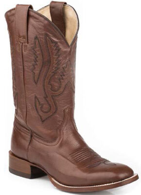 Stetson Classic Brown Cowboy Boots - Square Toe, Brown, hi-res