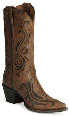 Dan Post Inlay Western Boots, , hi-res