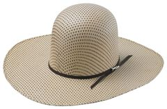 Tony Lama Open Crown Spotted Sheridan Straw Cowboy Hat, , hi-res