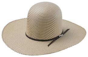 Tony Lama Open Crown Spotted Sheridan Straw Cowboy Hat, Two Tone, hi-res