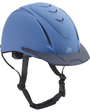 Ovation Kids' Schooler Deluxe Riding Helmet, Blue, hi-res