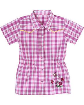 Wrangler Toddler Girls' Pink Plaid Tunic , Pink, hi-res