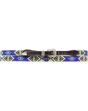 Aztec Beaded Hat Band, Black, hi-res
