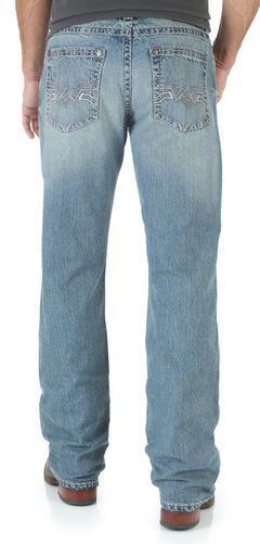 Wrangler Rock 47 Men's Grunge Boot Cut Jeans - Slim Fit, , hi-res