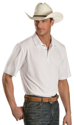 Ariat White Tek Polo Shirt, White, hi-res