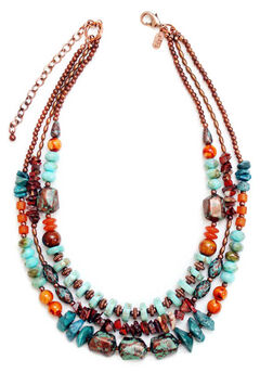 Treska 3 Row Beaded Necklace, , hi-res