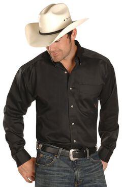 Ariat Black Twill Cowboy Shirt - Big & Tall, , hi-res