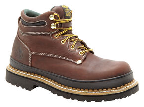 Georgia Giant Oblique Work Boots - Steel Toe, Brown, hi-res