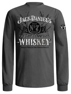 Jack Daniel's Men's Grey Old Time Whiskey T-Shirt , Grey, hi-res