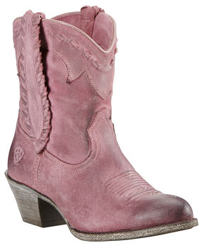 Ariat Relaxed Bark Women's Round Up Rianda Boots - Round Toe, Pink, hi-res
