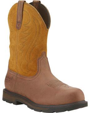 Ariat Waterproof  Groundbreaker Work Boots - Steel Toe, Brown, hi-res