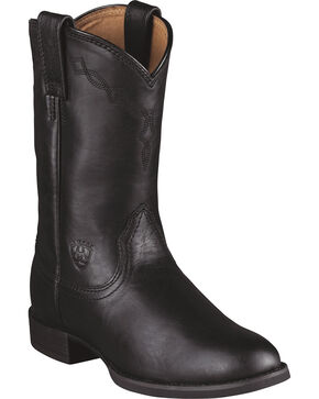 Women's Ariat Heritage Roper Boots, Black, hi-res
