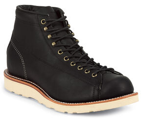 Chippewa Men's Odessa Utility Bridgemen Boots - Round Toe, Black, hi-res
