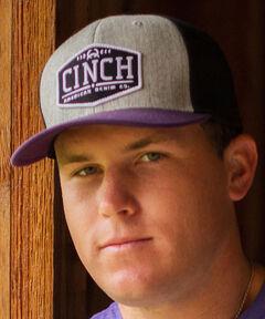 Cinch Men's Black FLEXFIT® Logo Baseball Cap, Black, hi-res