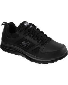 Skechers Men's Black Flex Advantage Slip Resistant Work Shoes  , , hi-res