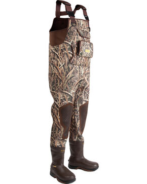 Rocky Men's Waterfowler Waterproof Insulated Waders, Mossy Oak, hi-res