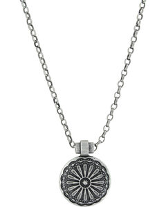 Montana Silversmiths Women's Silver Sunflower Necklace , , hi-res