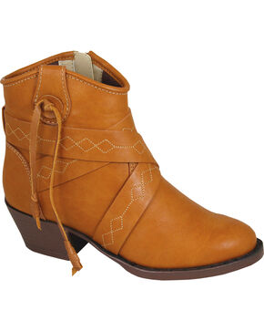 Smoky Mountain Youth Girls' Molly Western Boots - Round Toe , Tan, hi-res