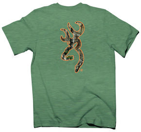 Browning Men's Olive Buckmark Short Sleeve Tee, Olive, hi-res
