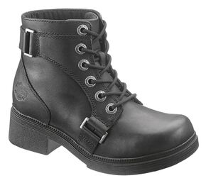 Harley Davidson Celia Women's Boots - Round Toe, Black, hi-res