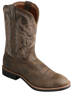 Twisted X Bomber Brown Top Hand Cowboy Boots - Round Toe, , hi-res