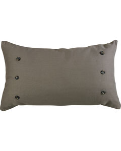HiEnd Accents Piedmont Large Gray Linen Pillow, , hi-res