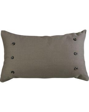 HiEnd Accents Piedmont Large Gray Linen Pillow, Multi, hi-res