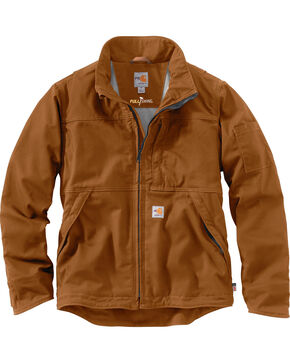 Carhartt Men's Flame-Resistant Full Swing Quick Duck Jacket , Pecan, hi-res
