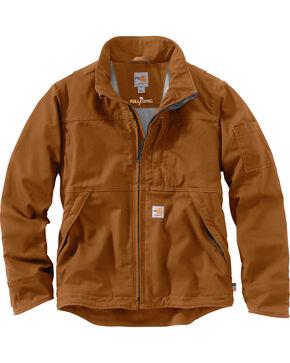 Carhartt Men's Flame-Resistant Full Swing Quick Duck Jacket , Pecan, hi-res