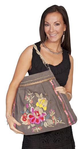 Scully Cotton Canvas Floral Shoulder Bag, Taupe, hi-res