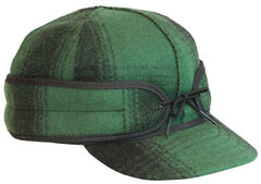 Stormy Kromer Men's Green & Black Plaid Original Cap, , hi-res
