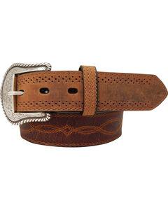 Dan Post Men's Leather Western Stitch Belt, , hi-res