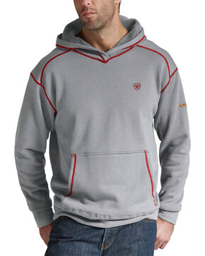 Ariat Men's Polartec Flame-Resistant Hoodie, Hthr Grey, hi-res