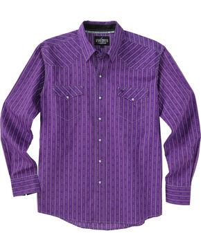 Garth Brooks Sevens by Cinch Purple Stripe Print Western Shirt , Purple, hi-res