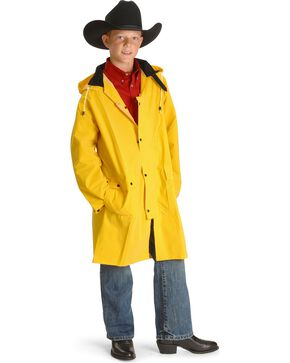 Double S childrens saddle slicker - 6-12, Yellow, hi-res