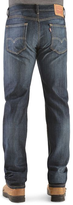 Levi's 505 Shoestring Rinse Straight Leg Jeans, , hi-res